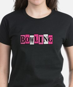 Pink and White Bowling Tee
