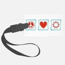 PeaceLoveBahaiSquares.png Luggage Tag