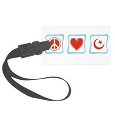 PeaceLoveIslamSquares.png Luggage Tag