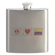 PeaceLoveColombiaSquares.png Flask