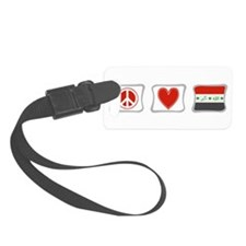 PeaceLoveIraqSquares.png Luggage Tag