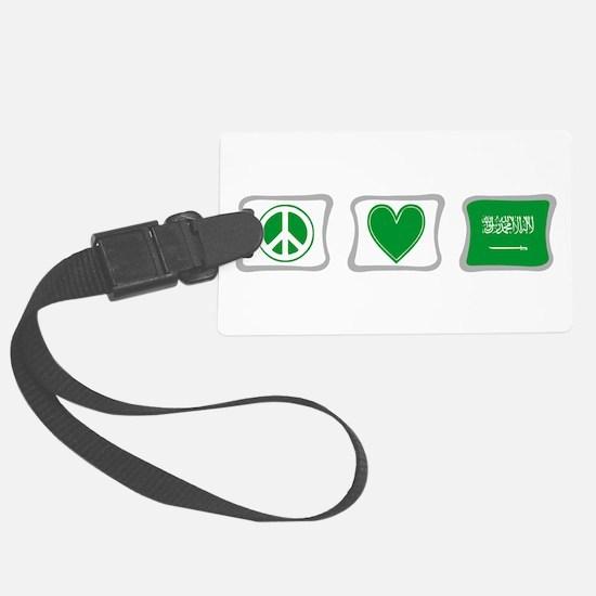 Peace Love Saudi Arabia Squares Luggage Tag
