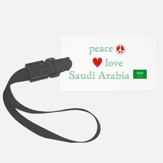 Peace Love Saudi Arabia Luggage Tag