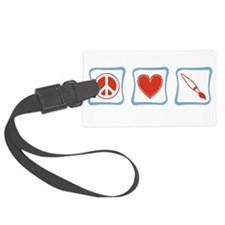 PeaceLoveArtistsSquares.png Luggage Tag
