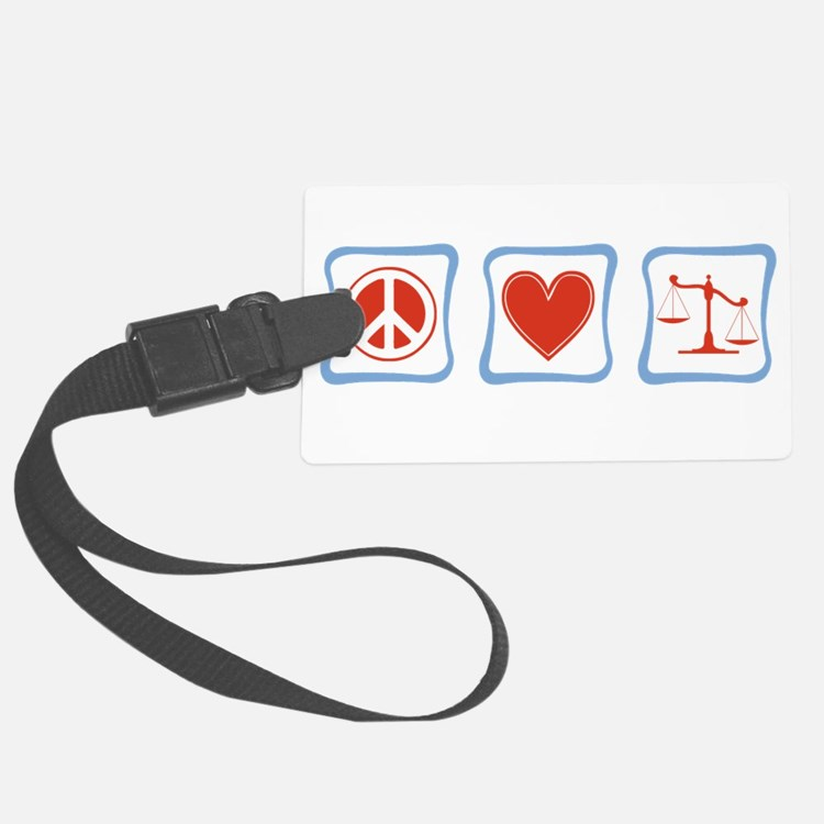 PeaceLoveLawyersSquares.png Luggage Tag