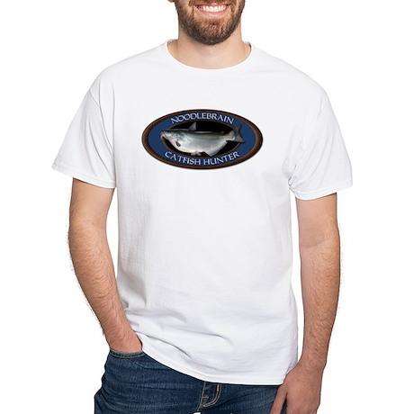 White Catfish Noodling T-Shirt