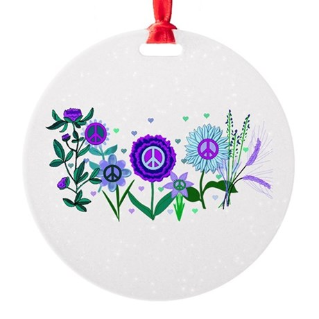 Growing Peace Round Ornament