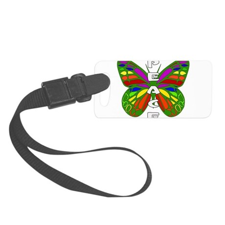 Peace Butterfly Small Luggage Tag