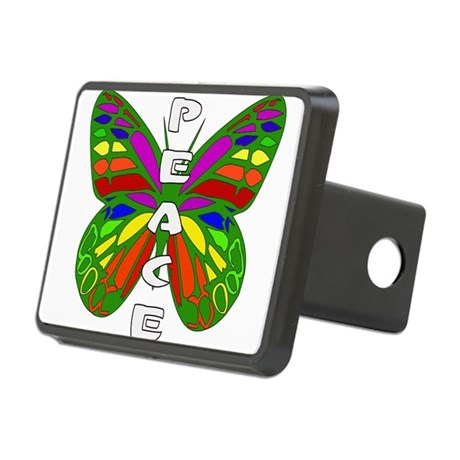 Peace Butterfly Rectangular Hitch Cover