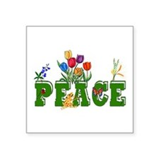 "peace_garden01.png Square Sticker 3"" x 3"""