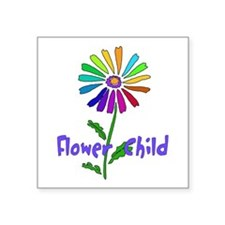 """flower_child01.png Square Sticker 3"""" x 3"""""""