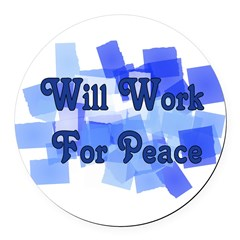 workforpeace01.png Round Car Magnet