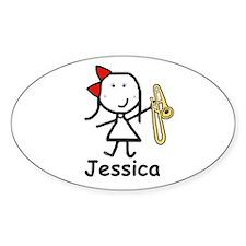 Trombone - Jessica Oval Decal