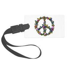 Butterflies Peace Sign Luggage Tag