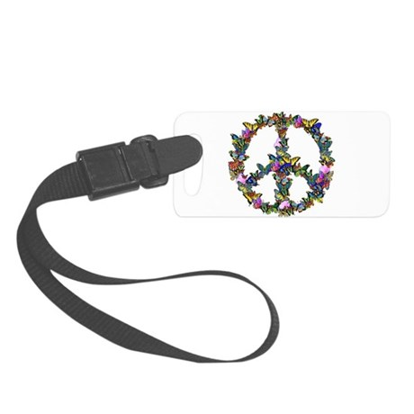 Butterflies Peace Sign Small Luggage Tag
