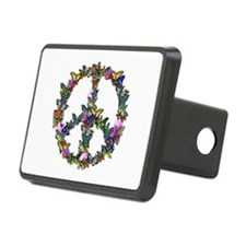 Butterflies Peace Sign Hitch Cover