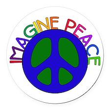 imagine01.png Round Car Magnet