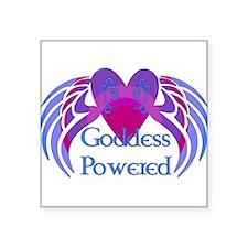 "2-goddess_powered01.png Square Sticker 3"" x 3"""