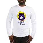 Funny Sour Puss Cat Long Sleeve T-Shirt