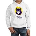 Funny Sour Puss Cat Hooded Sweatshirt