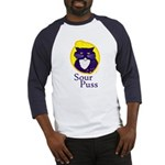 Funny Sour Puss Cat Baseball Jersey