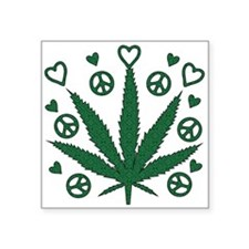 """weed01.png Square Sticker 3"""" x 3"""""""
