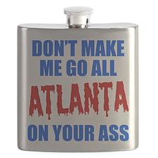 Atlanta Baseball Flask