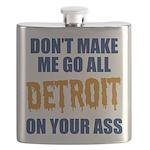 Detroit Baseball Flask