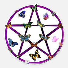 wiccan01.png Round Car Magnet