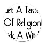 lickawitch01x.png Round Car Magnet