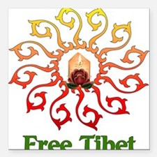 "free_tibet01.png Square Car Magnet 3"" x 3"""