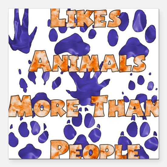 "animal_lover01.png Square Car Magnet 3"" x 3"""