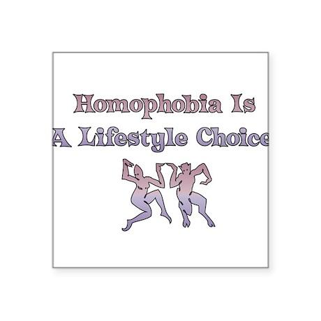 "homophobia01.png Square Sticker 3"" x 3"""