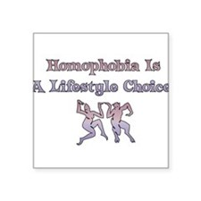 "homophobia01.png Square Sticker 3"" x 3"""