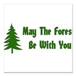 "forest01x.png Square Car Magnet 3"" x 3"""