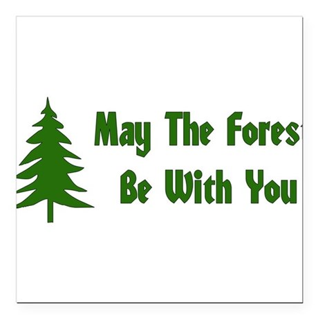 """forest01x.png Square Car Magnet 3"""" x 3"""""""