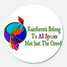 rainforest02.png Round Car Magnet