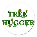treehugger01.png Round Car Magnet