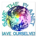 "earthday_01a.png Square Car Magnet 3"" x 3"""