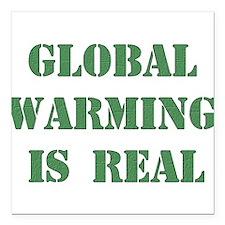 "global_warming01.png Square Car Magnet 3"" x 3"""