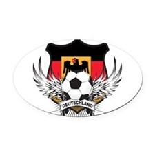 germany a.png Oval Car Magnet