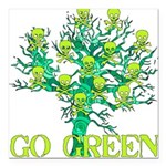 earth_day_skull02.png Square Car Magnet 3