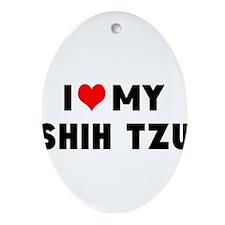 LUV MY SHSH TZU Ornament (Oval)