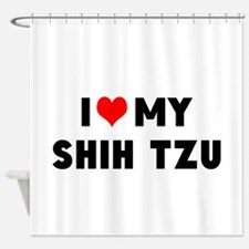 LUV MY SHSH TZU Shower Curtain