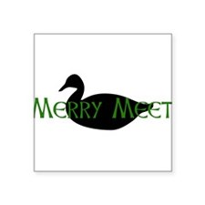 "spirit_animal_duck01.png Square Sticker 3"" x 3"""
