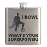 Bowling Superhero Flask