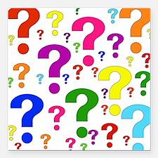 "question01.png Square Car Magnet 3"" x 3"""