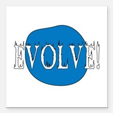 "evolve01.png Square Car Magnet 3"" x 3"""