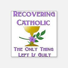 "catholic01x.png Square Sticker 3"" x 3"""