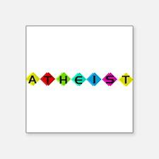 "atheist02.png Square Sticker 3"" x 3"""